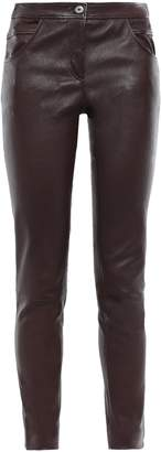Brunello Cucinelli Stretch-leather Skinny Pants