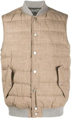 Eleventy Sleeveless Puffer Vest