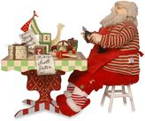 National Tree Plush 24-Inch Santa Figurine with Tool Bench and Toys