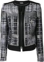 Karl Lagerfeld checked tweed jacket