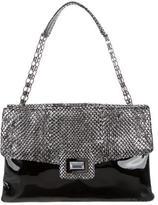 Kara Ross Python-Accented Patent Leather Shoulder Bag