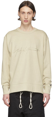 Y-3 Off-White Distressed Signature Sweatshirt