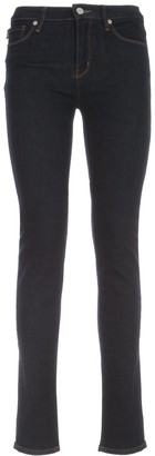 Love Moschino Logo Embroidered Skinny Jeans