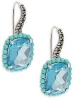 Stephen Dweck Reflections Turquoise, Blue Topaz & Sterling Silver Earrings