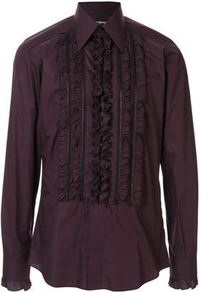 Dolce & Gabbana Ruffled Trim Shirt