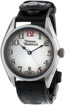 Vivienne Westwood Heritage Men's Quartz Watch with Black Dial Analogue Display and Black Leather Strap VV012BK