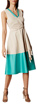 Karen Millen Knot Detail Midi Dress, Teal/Grey