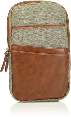 Buxton Men's 1867 RFID Blocking Phone Pouch Case with Battery Grey One Size
