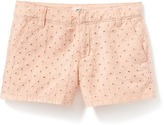 Old Navy Eyelet-Detail Chino Shorts for Girls
