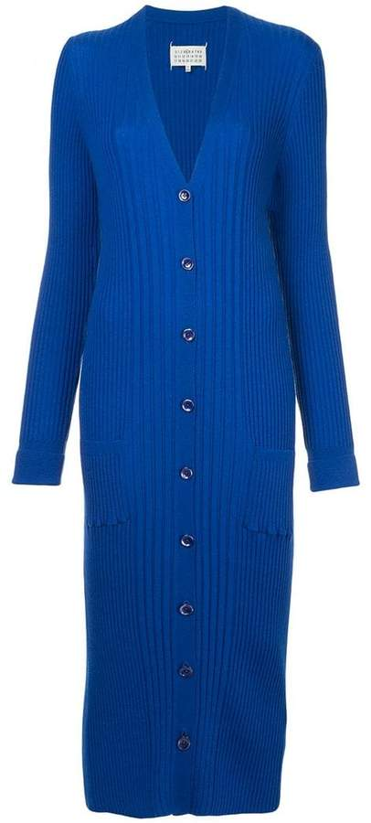 Maison Margiela long fitted ribbed cardigan