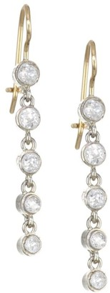 Renee Lewis 18K Two-Tone Gold & Antique Diamond Gold Waterfall Drop Earrings