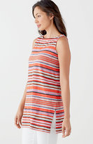 J. Jill Striped Sleeveless Knit Tunic