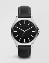 Armani Exchange Leather Strap Watch AX2149