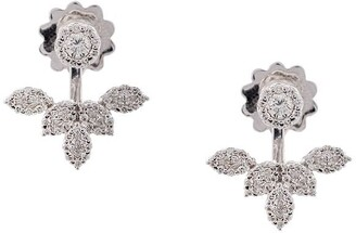 YEPREM 18kt white gold diamond stud and earring jacket
