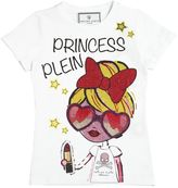 Philipp Plein Junior Princess Crystal Cotton Jersey T-Shirt