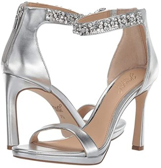 Badgley Mischka SIERRA (Silver Metallic) Women's Dress Sandals