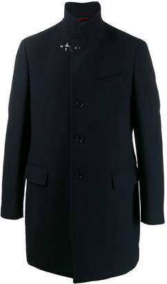 Fay textured single-breasted coat