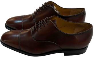 Salvatore Ferragamo Brown Leather Lace ups