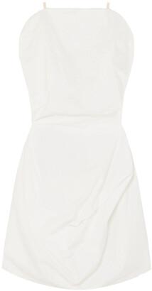 MM6 MAISON MARGIELA Draped Cotton-poplin Dress