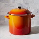 Crate & Barrel Le Creuset ® 10-qt. Flame Enamel Stock Pot with Lid