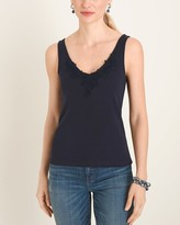 Chico's Chicos Lace-Detail Supima Cotton Tank