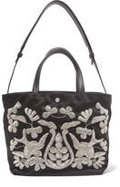 Elizabeth and James Eloise Zardozi-embroidered Satin Tote - Black