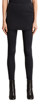 AllSaints Raffi Ruched Leggings, Black
