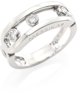 Messika Move Classic 18K White Gold & Diamond Ring