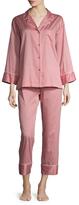 Natori Cotton Sateen Essentials Notch Pajama Set