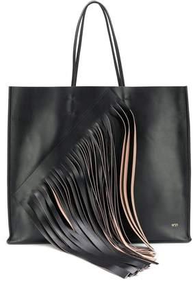 No.21 fringe embellished tote bag