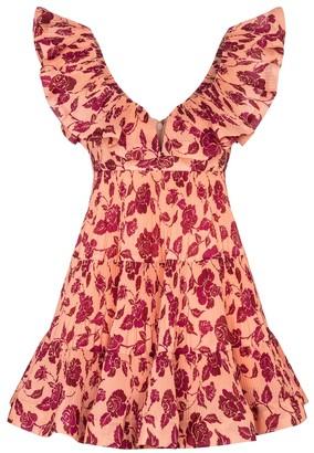 Zimmermann The Lovestruck floral pleated minidress