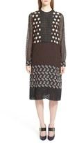 Lanvin Women's Mixed Print & Lace Silk Dress