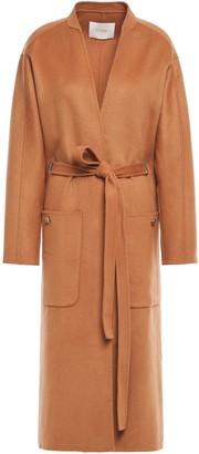 Maje Galiro Belted Wool-blend Felt Coat