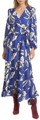 Veronica Beard Mclean Floral Silk Maxi Dress