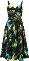Marc Jacobs tropical print dress - women - Cotton/Spandex/Elastane - 6