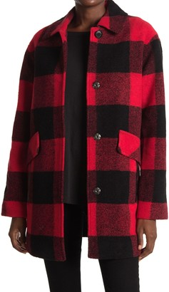 Pendleton Mercer Island Plaid Wool Blend Coat