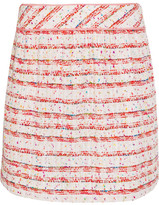 Moschino Cotton-blend Bouclé Mini Skirt - White