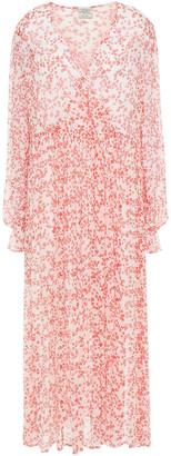 Baum und Pferdgarten Axelle Wrap-effect Printed Georgette Midi Dress