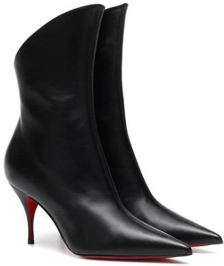 Christian Louboutin Claire Zip 80 leather ankle boots