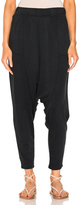 Raquel Allegra Cropped Slouchy Pant in Black.