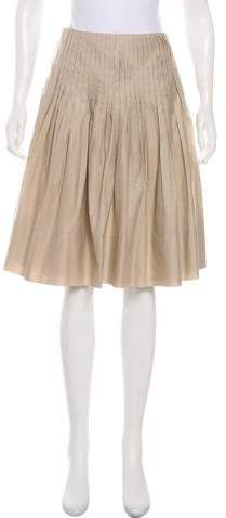 Gunex Striped Knee-Length Skirt