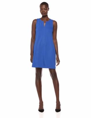 Lark & Ro Women's Sleeveless Split Neck Shift Dress
