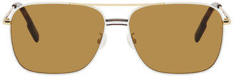 Kenzo Gold and Brown Shiny Endura Sunglasses