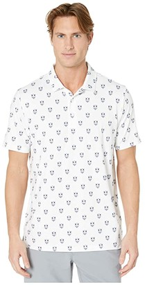 Puma X Skull Polo (Bright White) Men's Clothing