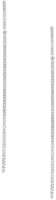 Effy 14K White Gold Diamond Linear Earrings