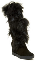 Aquatalia Colette Genuine Mourmansky & Shearling Wedge Boot