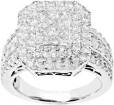 JCPenney FINE JEWELRY 2 CT. T.W. Princess & Round Diamond Engagement Ring
