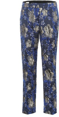 Dries Van Noten Printed jacquard pants