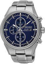 Seiko Ssc365p1 Chronograph Titanium Bracelet Strap Watch, Silver/blue