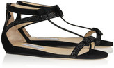 Jimmy Choo Sundown embellished suede sandals